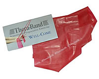 Theraband rot, bedrucktes Fitnessband
